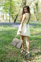 ivory Hedonia dress - heather gray Florian London bag