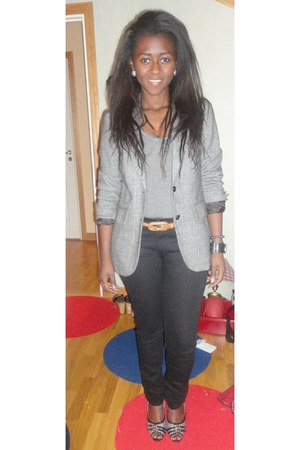 GINA TRICOT blazer - africa shoes - New Yorker jeans
