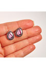 Hot-pink-plastic-ditty-drops-earrings