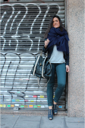 Zara blazer - Uterque shoes - Zara scarf