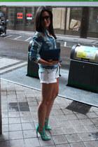 asos bag - Stradivarius shorts - Zara blouse