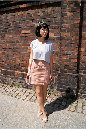 peach H&M skirt - periwinkle H&M top