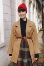 Camel-tartan-new-old-fashion-vintage-skirt-camel-peacoat-thrifted-vintage-coat