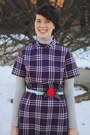 Deep-purple-plaid-stranger-bird-vintage-dress