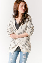 Soft Cheetah Print Knit Cardigan