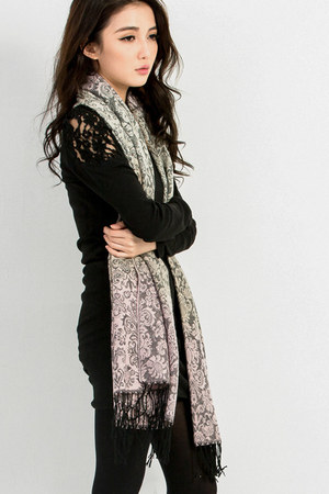 wool Mexy scarf - cotton Mexy dress