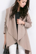Waterfall Front Drape Coat