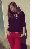 random jeans - black swan meli melo paris earrings