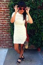 ivory lace dress dress - red Sweetheart Sunglasses sunglasses