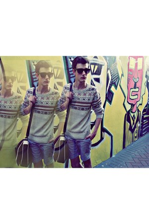 Jay Jays shorts - barky-nerds Mr Price glasses - Holme jumper