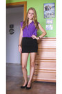 Amethyst-c-a-blouse-black-c-a-skirt-black-peacocks-wedges-black-watch
