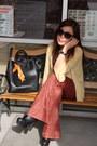 Black-steve-madden-boots-burnt-orange-forever21-pants-mustard-blouse