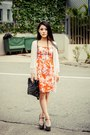 Carrot-orange-zara-dress-black-thomas-wylde-bag