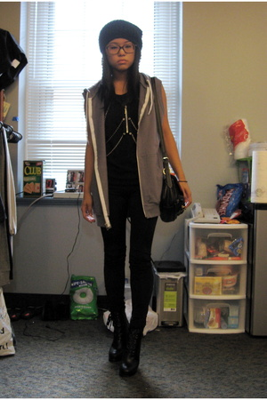 forever 21 tights - American Apparel vest - Marc by Marc Jacobs shoes - iheartno