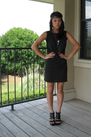 black tri-blend American Apparel dress - black calvin klein shoes