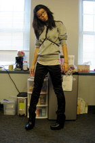 Uni Qlo sweater - H&M pants - sam edelman shoes