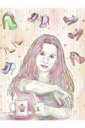 pink Jeffrey Campbell boots - lime green Iris Van Herpen & United Nude boots - l