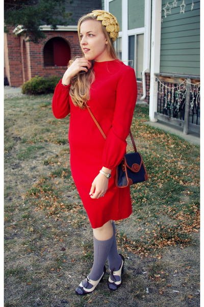 ruby red vintage dress