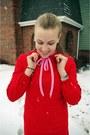 Ruby-red-vintage-dress-carrot-orange-target-tights-bubble-gum-vintage-blouse