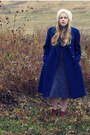 Periwinkle-target-dress-navy-vintage-coat