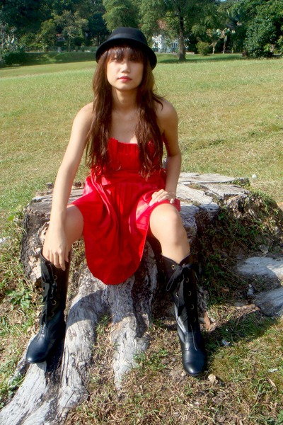 gasp dress - H&M hat - boots