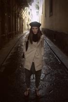 vintage hat - Brandy & Melville jacket - Zara pants - Burberry shoes