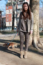 beige imperial jacket - camel Calzedonia leggings - light brown tezenis jumper
