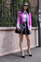 amethyst Zara blazer - purple H&M bag - black Prada sunglasses