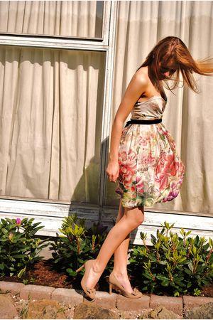 beige Zara dress - roberto vianni shoes