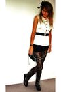 Beige-h-m-blouse-black-skirt-black-leggings-black-accessories-black-boot