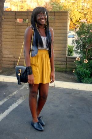 aa skirt - Aldo - new look shoes - H&M vest