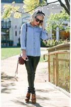 mini mac Rebecca Minkoff bag - leopard print Steve Madden heels