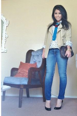 silk PANCALDI&B blazer - True Religion jeans - Diane Von Furstenberg shirt