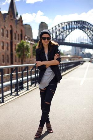 H&M pants - Forever 21 shoes - Zara blazer - Mango top