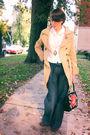 White-vintage-blouse-blue-habitual-jeans-priorities-jacket-vintage-purse
