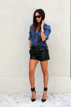 Sportsgirl shirt - Junk Clothing shorts - tony bianco heels