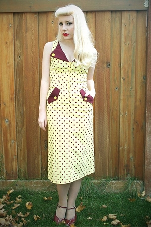 bettie page dress - thrifted shoes