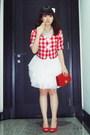 Red-random-brand-blazer-white-custom-made-skirt-red-guess-shoes-red-celine