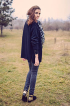 black Lovely shoes boots - charcoal gray Kiabi jeans