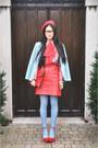 Vintage-blazer-vintage-bag-vintage-skirt-vintage-blouse