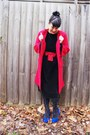 Vintage-dress-etsy-dress-vintage-thrifted-coat-alannah-hill-tights