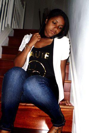 black Forever 21 shirt - white Forever 21 blouse - gold Forever 21 bracelet