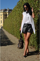 vintage shorts - Stradivarius shoes - Ebay bag - wwwfeliceecom blouse