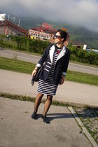 Esprit dress - H&M accessories - vintage blazer