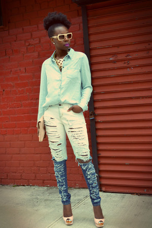 diy Forever21 jeans - forever21com shirt - Chloe sunglasses