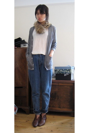 American Apparel coat - H&amp;M t-shirt - Mums jeans - charity shop shoes