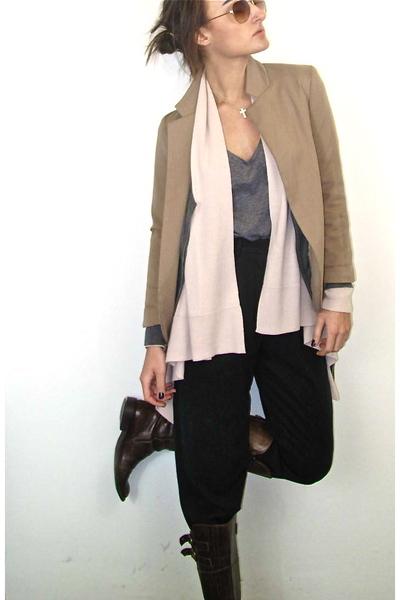 wilfred pants - Divided t-shirt - pink H&M cardigan - gray H&M cardigan - Silenc