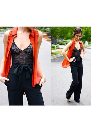 lace wilfred top - sheer blouse - TBabaton pants