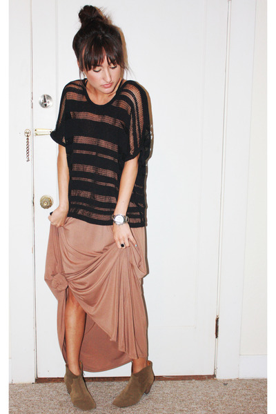 t by alexander wang dress - khaki Isabel Marant boots - rag&bone sweater