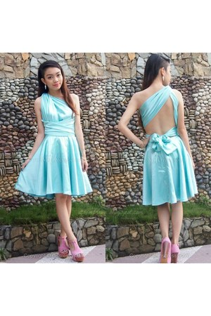 aquamarine edressycom dress - pink Jeffrey Campbell heels - white accessories